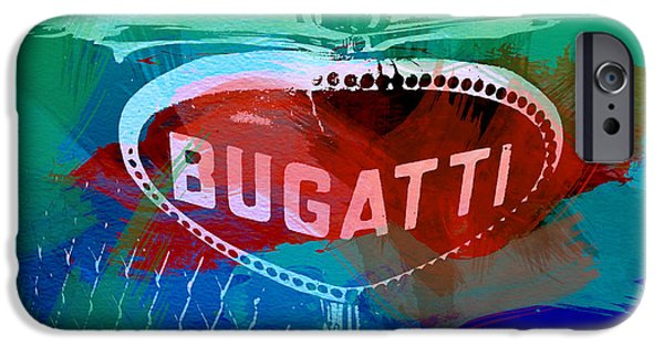 Bugatti Vintage Car iPhone Cases - Bugatti Badge iPhone Case by Naxart Studio
