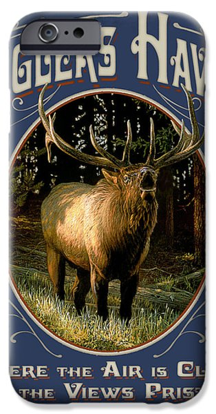 Yellowstone iPhone Cases - Buglers Haven Sign iPhone Case by JQ Licensing