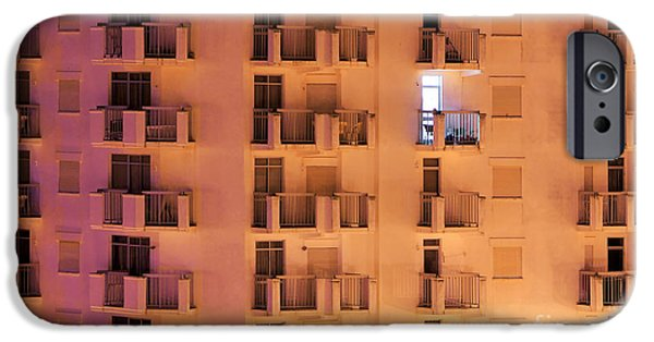 Balcony iPhone Cases - Building facade iPhone Case by Carlos Caetano