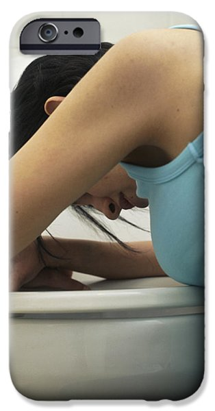 Bulimia iPhone Case by Cristina Pedrazzini