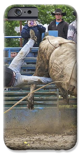 Bull 1 - Rider 0 iPhone Case by Sean Griffin