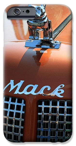 Dog Close-up Digital Art iPhone Cases - Bull Dog Hood Ornament iPhone Case by Suzanne Gaff