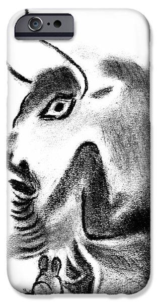 Bull iPhone Case by Michal Boubin
