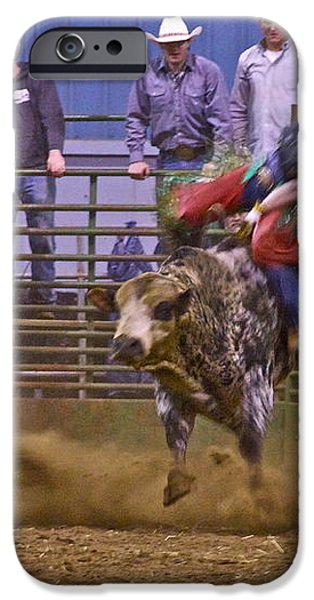 Bull Rider 1 iPhone Case by Sean Griffin
