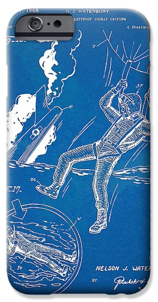 Concept Digital Art iPhone Cases - Bulletproof Patent Artwork 1968 Figures 16 to 17 iPhone Case by Nikki Marie Smith