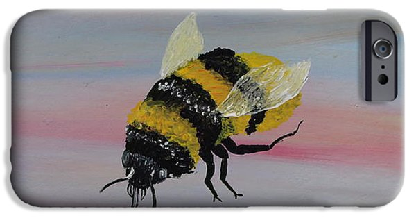 Love Sculptures iPhone Cases - Bumble Bee iPhone Case by Mark Moore