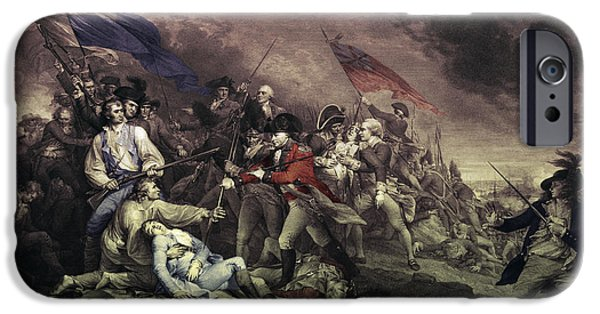 American Revolution iPhone Cases - Bunker Hill iPhone Case by Omikron
