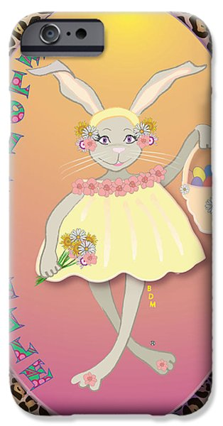 BUNNIE GIRLS- FLOWAH CHILE 1 OF 4  iPhone Case by BRENDA DULAN MOORE