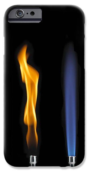 Bunsen Burner Flame Sequence iPhone Case by