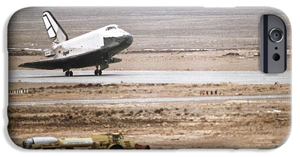 Space-craft iPhone Cases - Buran Space Shuttle Landing iPhone Case by Ria Novosti