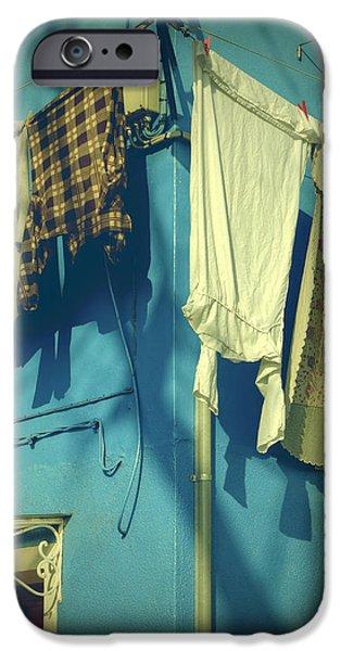 Burano - laundry iPhone Case by Joana Kruse