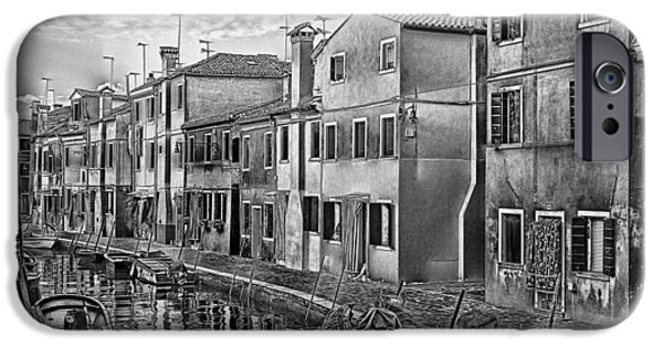 Computer Art Pyrography iPhone Cases - Burano 3 iPhone Case by Mauro Celotti