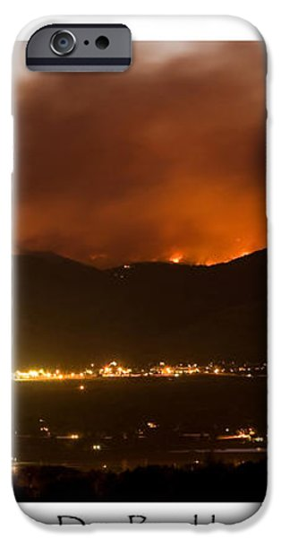 Burning Foothills Above Boulder Fourmile Wildfire Panorama Poster iPhone Case by James BO  Insogna