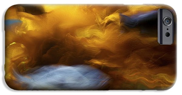 Abstract Digital Pyrography iPhone Cases - Burning in the Deep iPhone Case by Julius Reque