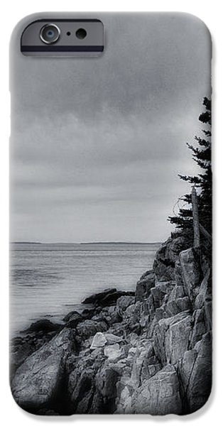 Burning the Midnight Oil - Bass Harbor iPhone Case by Thomas Schoeller