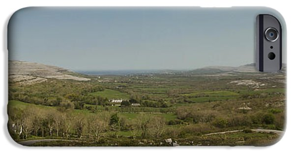 Famine iPhone Cases - Burren View Panorama County Clare Ireland iPhone Case by Teresa Mucha