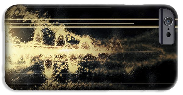 Cyberspace iPhone Cases - Burst Of Energy Forms Into Powerful iPhone Case by Tomasz Dabrowski