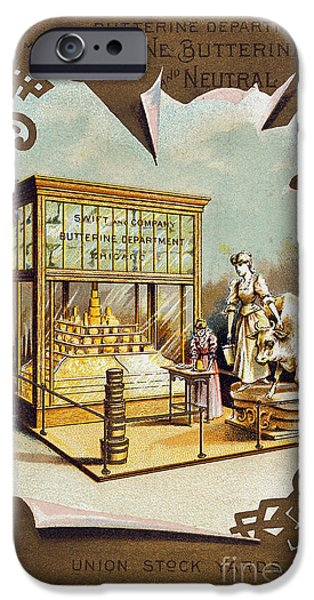 1880s iPhone Cases - BUTTER TRADE CARD, c1880 iPhone Case by Granger