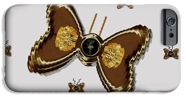 Flies Mixed Media iPhone Cases - Butterflies for the worlds  future iPhone Case by Pepita Selles