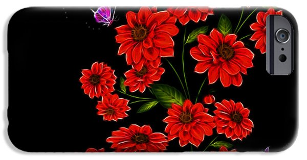 Garden Images iPhone Cases - Butterfly Garden iPhone Case by Cheryl Young