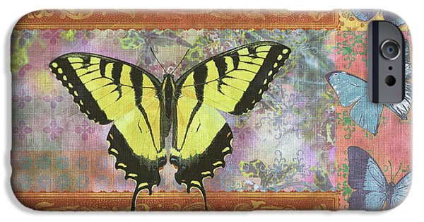 Butterfly Garden iPhone Cases - Butterfly Mosaic iPhone Case by JQ Licensing