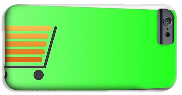 Business Digital iPhone Cases - Buy Now Green iPhone Case by Henrik Lehnerer