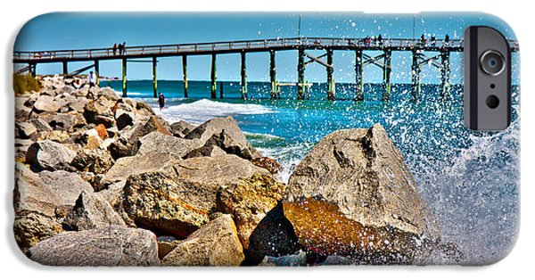 Pleasure iPhone Cases - By the Pier iPhone Case by Betsy A  Cutler