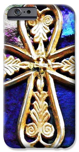 Byzantine Tree of Life Cross 3 iPhone Case by Sarah Loft