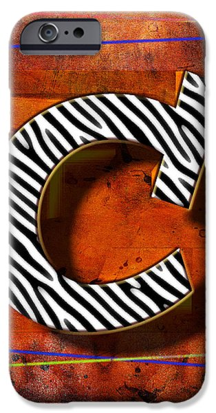 Leaning Pyrography iPhone Cases - C iPhone Case by Mauro Celotti
