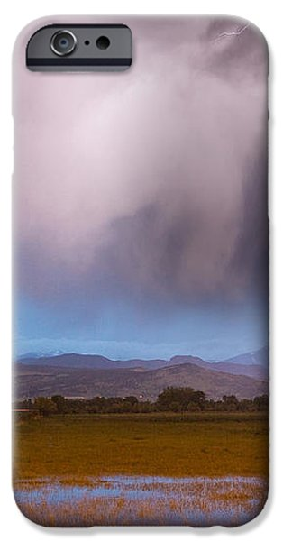 C2G Lightning Bolts Striking Longs Peak Foothills 6 iPhone Case by James BO  Insogna