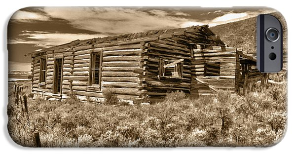 Log Cabin Photographs iPhone Cases - Cabin Fever iPhone Case by Shane Bechler