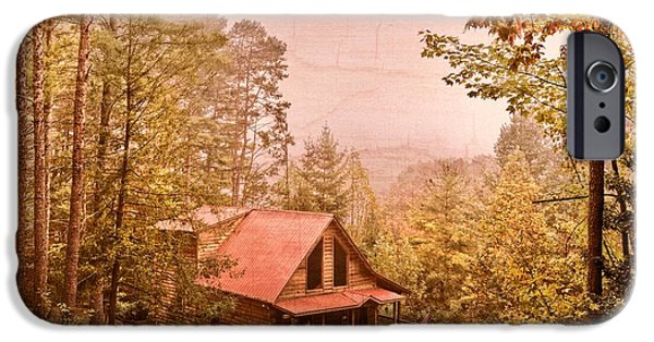Old Barn Photo Photographs iPhone Cases - Cabin in the Pines iPhone Case by Debra and Dave Vanderlaan