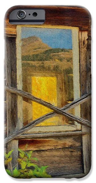 Glass Reflecting iPhone Cases - Cabin Windows iPhone Case by Jeff Kolker