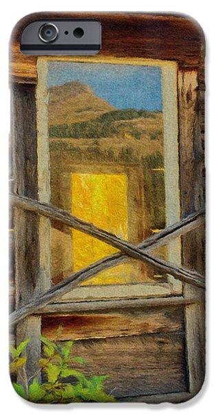 Cabin Windows iPhone Case by Jeff Kolker