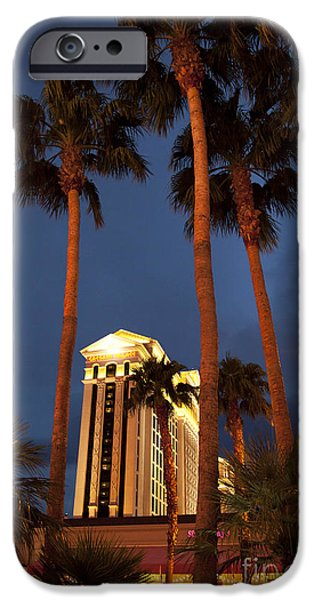 Business Photographs iPhone Cases - Caesars Palace 6 iPhone Case by Jane Rix