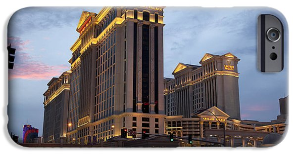 Business Photographs iPhone Cases - Caesars Palace  iPhone Case by Jane Rix