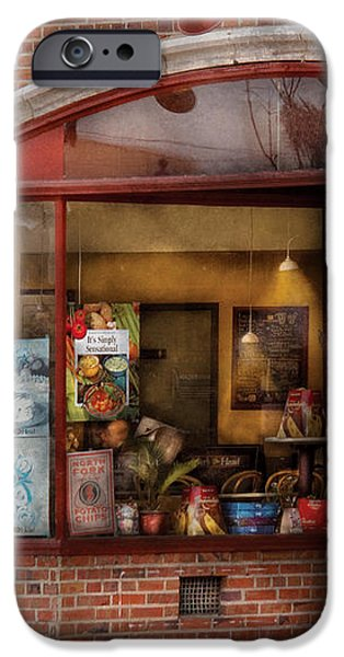 Cafe - Westfield NJ - Tutti Baci Cafe iPhone Case by Mike Savad