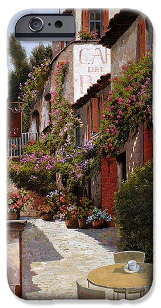 Inside-outside iPhone Cases - Cafe Bifo iPhone Case by Guido Borelli