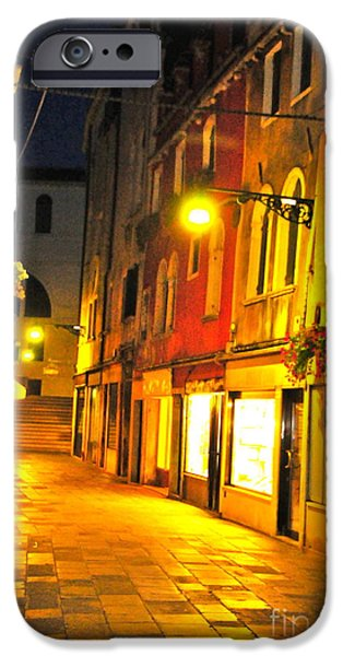 Cafe in Venice iPhone Case by Alberta Brown Buller