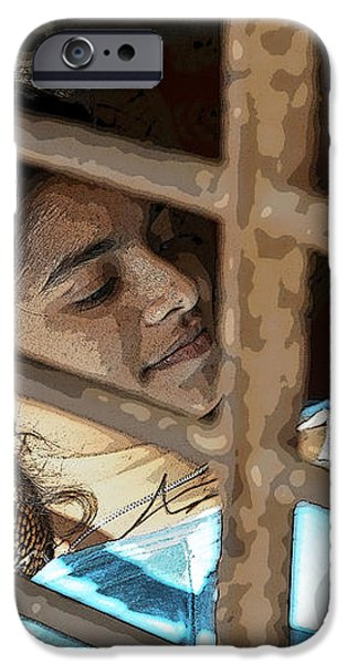 Caged Indian Beauty iPhone Case by Kantilal Patel