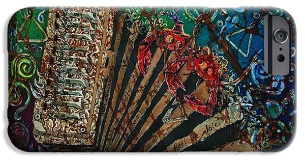 Celebrities Tapestries - Textiles iPhone Cases - Cajun Accordian iPhone Case by Sue Duda