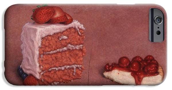 Dessert iPhone Cases - Cakefrontation iPhone Case by James W Johnson