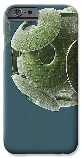 Calcareous Phytoplankton Fossil, Artwork iPhone Case by Christian Darkin