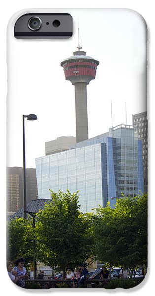 Calgary Tower View 2 iPhone Case by Donna Munro