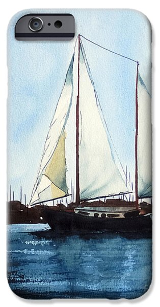 Sailboat Ocean Mixed Media iPhone Cases - California Dreamin III iPhone Case by Kip DeVore