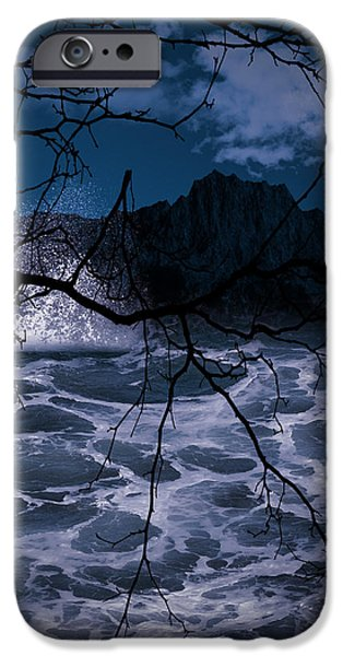 Evening Digital Art iPhone Cases - Caliginosity iPhone Case by Lourry Legarde