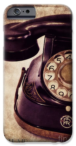 Phone iPhone Cases - Call me iPhone Case by Angela Doelling AD DESIGN Photo and PhotoArt