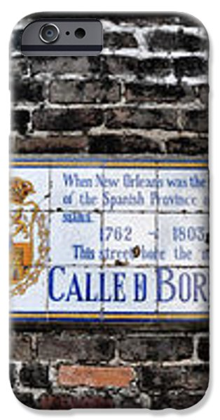 Calle D Borbon iPhone Case by Bill Cannon