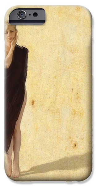 Greek Goddesses iPhone Cases - Calliope the Muse iPhone Case by Cinema Photography