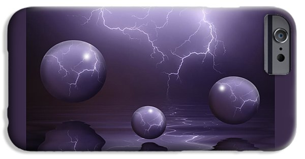 Storm Prints Mixed Media iPhone Cases - Calm Before The Storm iPhone Case by Shane Bechler